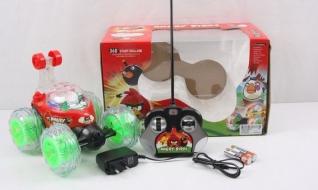 Машинка Angry Birds танцующая со звуком и светом