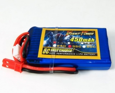 Giant Power LiPo 450mAh 7.4V 25C JST